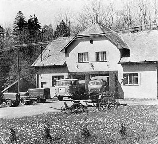 Požární zbrojnice postavená v letech 1955-1958